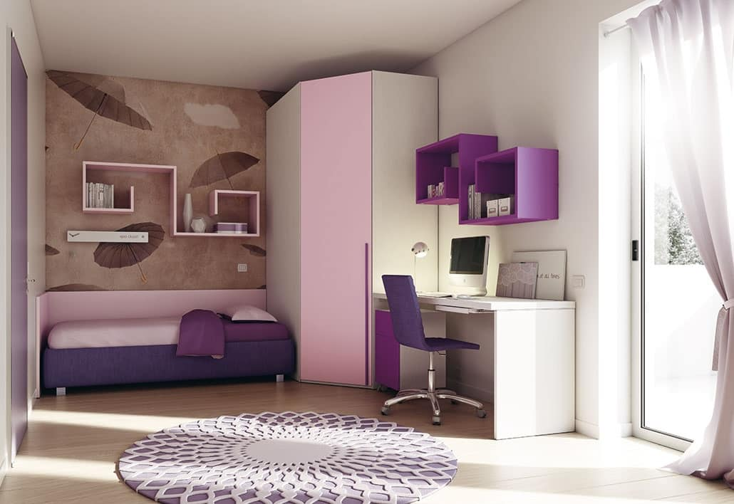Camera per bimbi con spazi ottimizzati idfdesign for Complementi d arredo per camerette