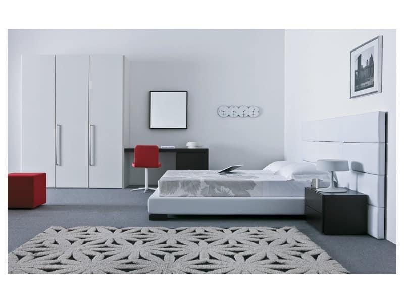 Arredo per camera da letto stile moderno idfdesign - Camera da letto moderno ...