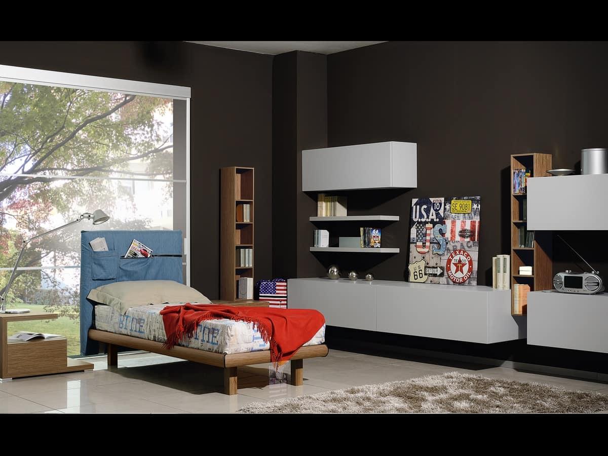 Cameretta per ragazzi con mobili in stile moderno idfdesign for Camerette design
