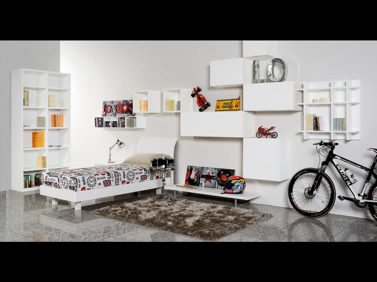 Climb Ragazzi 17, Camera modulare per ragazzi, ideale per ottimizzare lo spazio