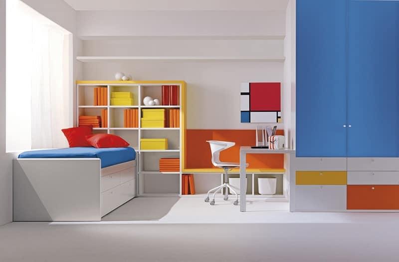 Camera compatta per ragazzi, colori primari, cura dei dettagli ...