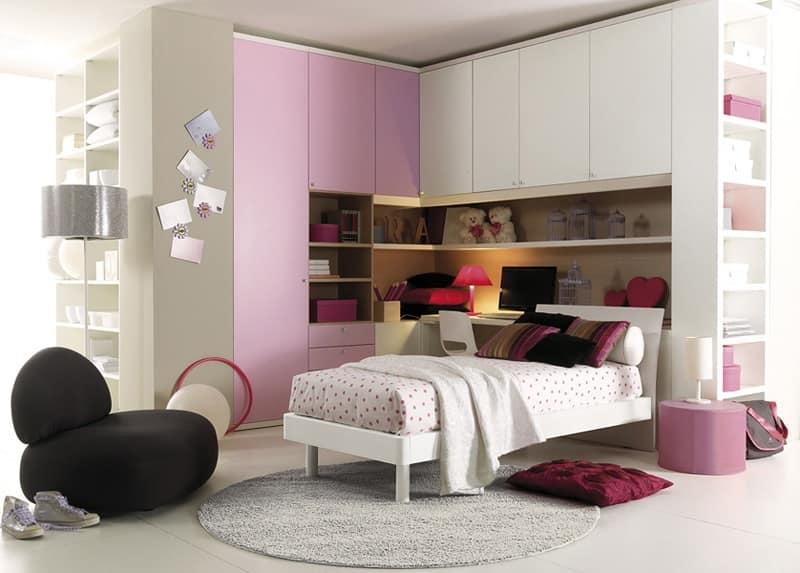 arredo cameretta angolo roma : Camera da letto, ottimizzazione dello spazio e confort IDFdesign