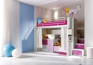 Comp. 306, Camera da letto, doghe in legno, vari colori