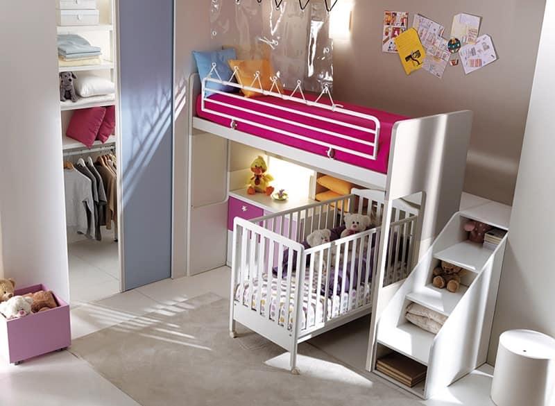 Camera da letto doghe in legno vari colori idfdesign - Camere da letto bambina ...