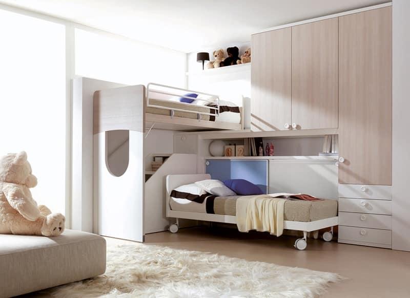 Arredo per cameretta in molti colori nobilitati idfdesign for Ikea letto ribaltabile