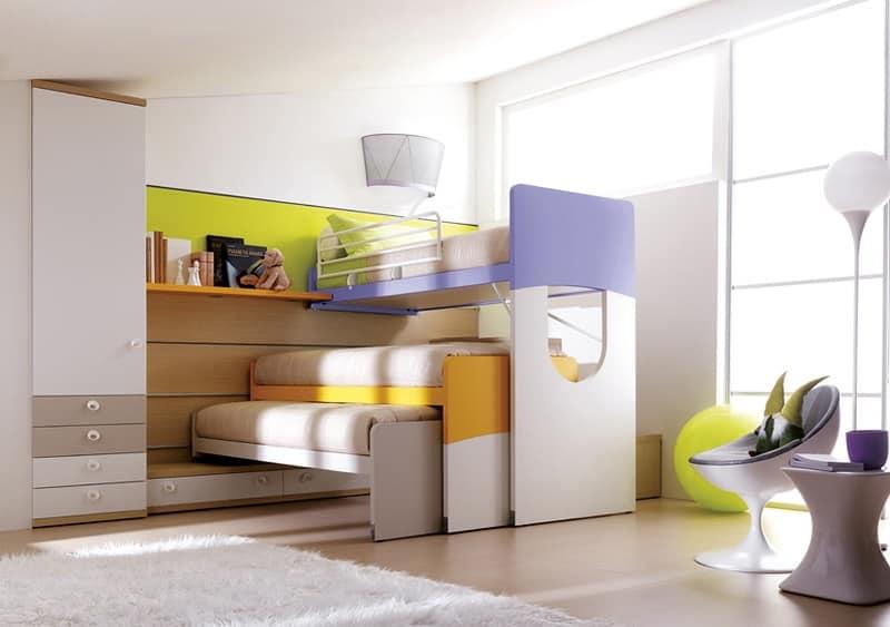 Camera per ragazzi compatta e robusta con letto a castello | IDFdesign