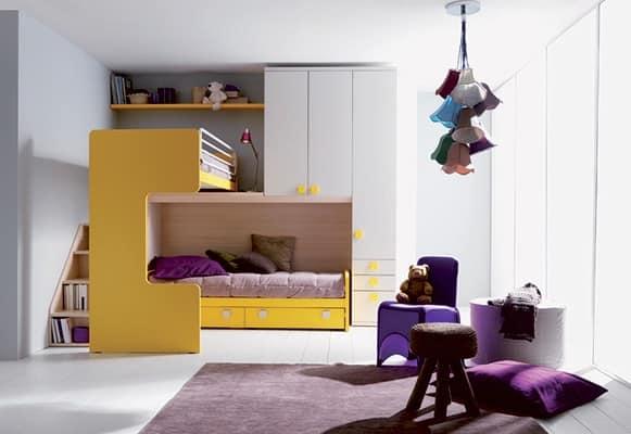 Letto e comodino per bambini comp 407 - Comodini per camerette ...