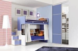 Comp. 903, Camere bambini con letto a castello, funzionale e ordinata