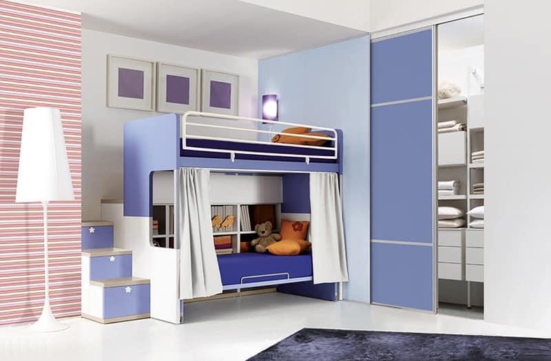 Camere bambini con letto a castello funzionale e ordinata - Prezzi letto a castello ...