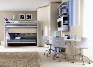 Comp. 906, Soluzione per camera bambini, configurazione angolare