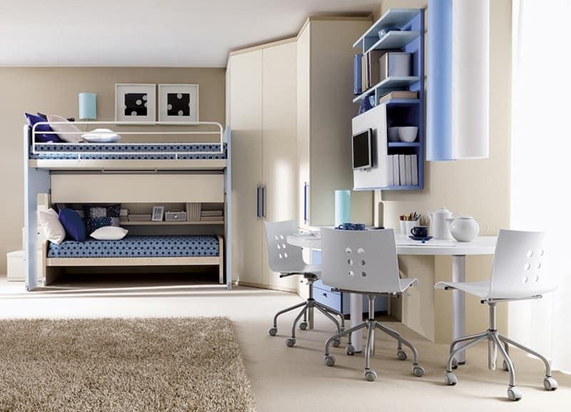 Soluzione per camera bambini, configurazione angolare  IDFdesign