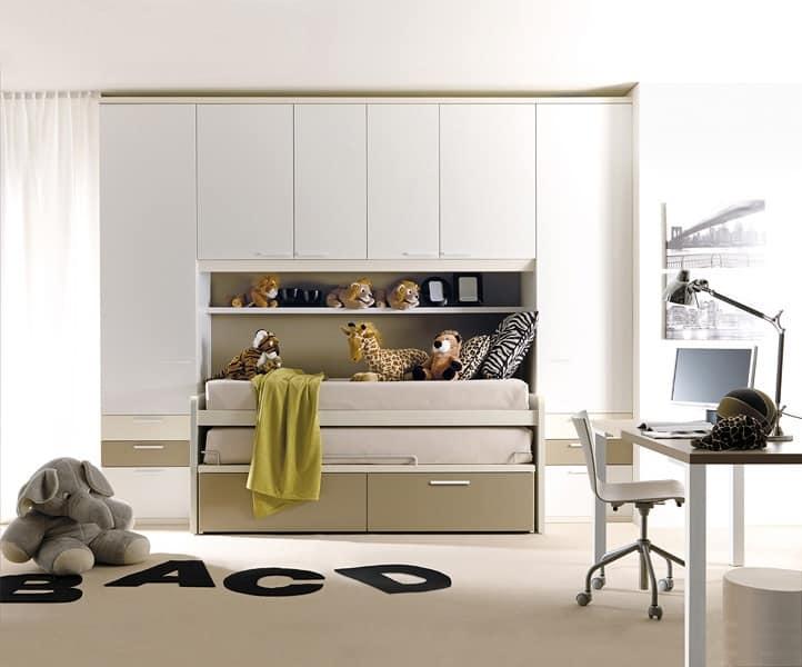 Camerette colorate design geometrico ed essenziale - Doimo cucine torino ...