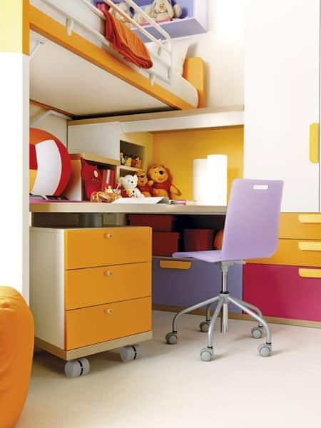Camere bambini letto con rete ortopedica idfdesign - Camere con letto a soppalco ...