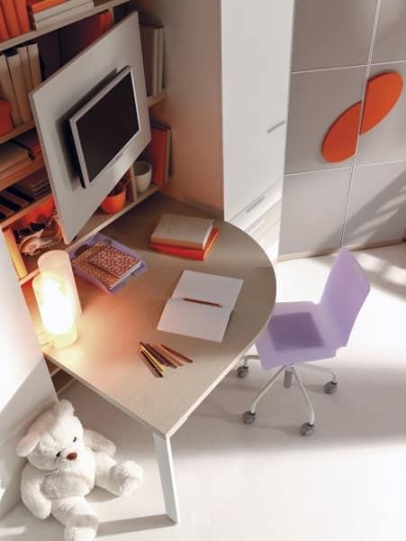 Letto per ragazzi cabina armadio scrivania mobili pensili idfdesign - Mobili per cabina armadio ...