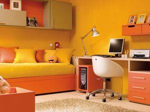 Compact 7003, Cameretta con letto, scrivania e pensili