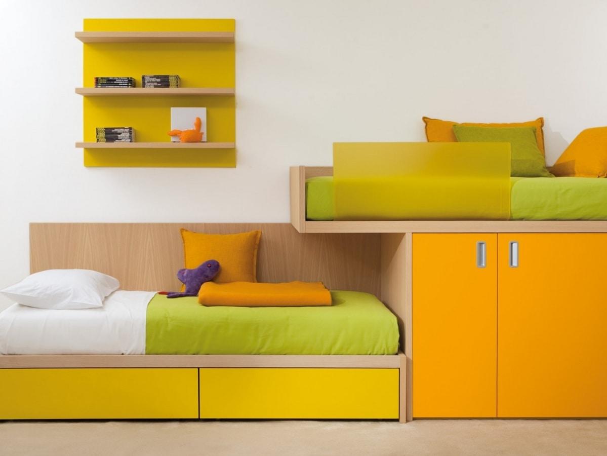 Letto con armadio incorporato idfdesign - Armadio con letto incorporato ...