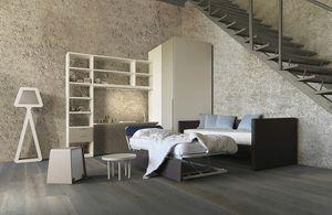 Natural comp.07, Cameretta con divano letto contenente un secondo letto