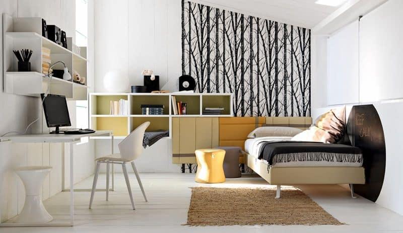 Mobili Salvaspazio Camera Da Letto : Arredamento per camere da letto per ragazzi con scrivania idfdesign