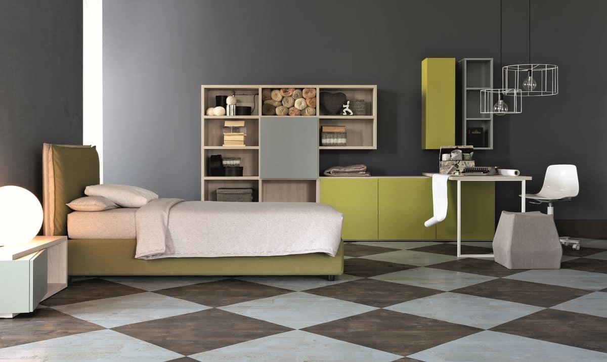 Arredamento per camere per ragazzi, eleganti geometrie | IDFdesign