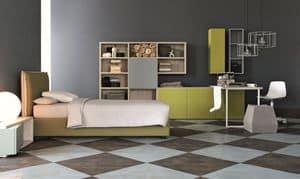 Comp. New 149, Arredamento per camere per ragazzi, eleganti geometrie