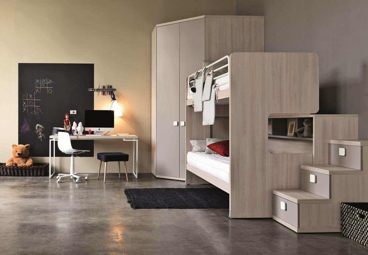 Stanze da letto moderne per ragazze: arredo per camera dei bambini ...