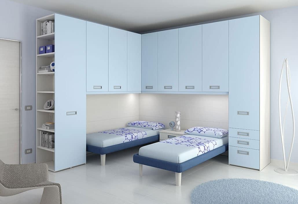 Camera per bimbi con 2 letti e luci integrate idfdesign - Ikea mobili camera bambini ...