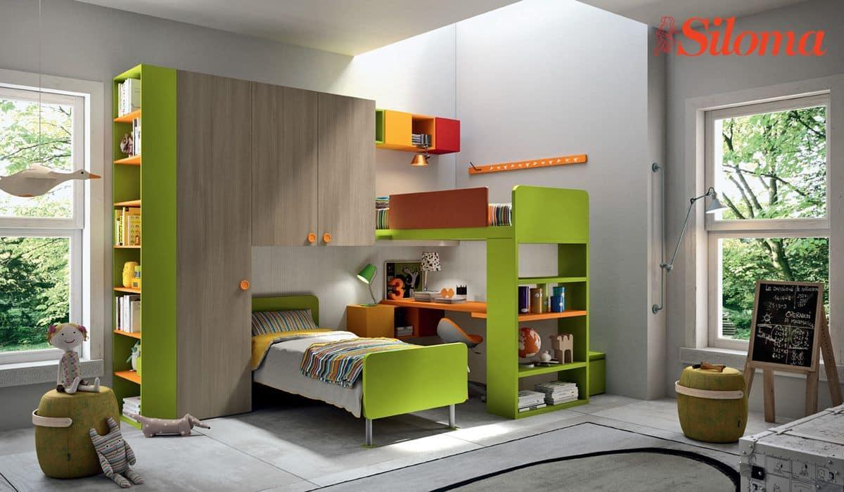 Cameretta moderna con letto a castello | IDFdesign