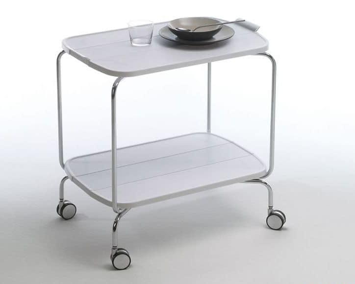 Carrello richiudibile in metallo ripiani in tecnopolimero smart 0 139 - Carrelli cucina design ...