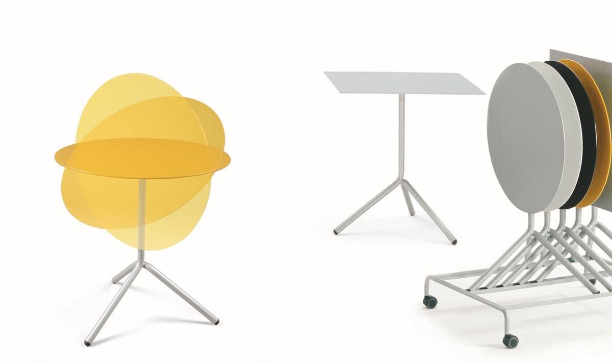 Carrello per tavoli pieghevoli ideale per hotel e for Tavoli pieghevoli