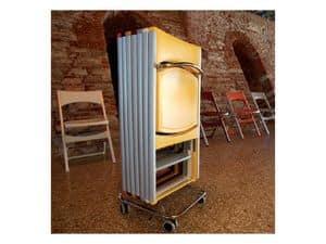 Compact cod. 60, Carrello in metallo per stoccaggio sedie