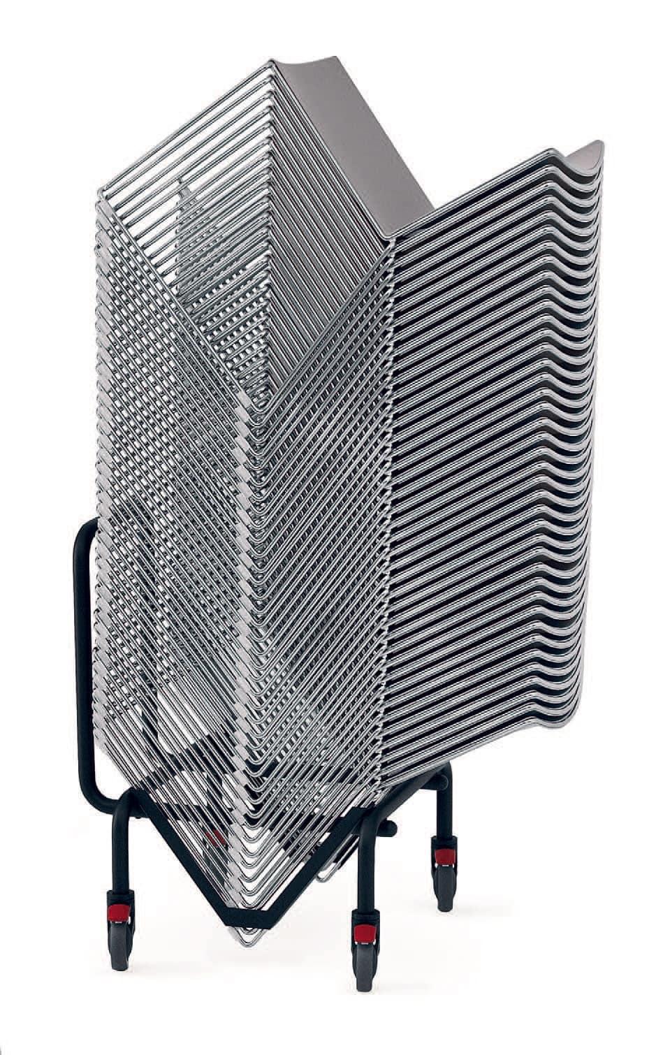 Comodo carrello per sedie impilabili per sale conferenza for Sedie impilabili