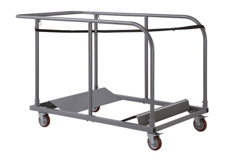 Resol.C - Carro 1, Carrello in metallo per tavoli impilabili, per ristoranti