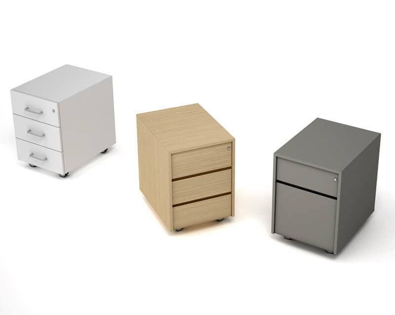 Cassettiera su ruote per scrivania per ufficio idfdesign for Cassettiere ufficio