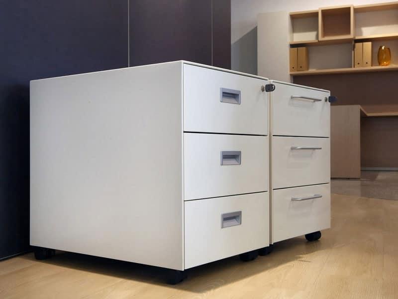 Cassettiera operativa in metallo verniciato in vari colori - Cassettiere ufficio ...