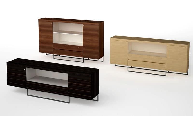 Mobili contenitori per ufficio varie finiture base in metallo