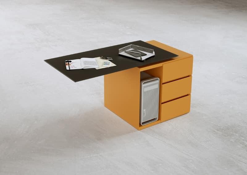 Scrivania grande legno e metallo ideale per ufficio - Cassettiere ufficio ...