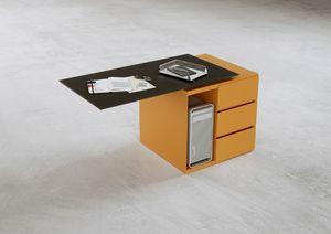 Deck contenitore 2, Cassettiere per ufficio, con ruote