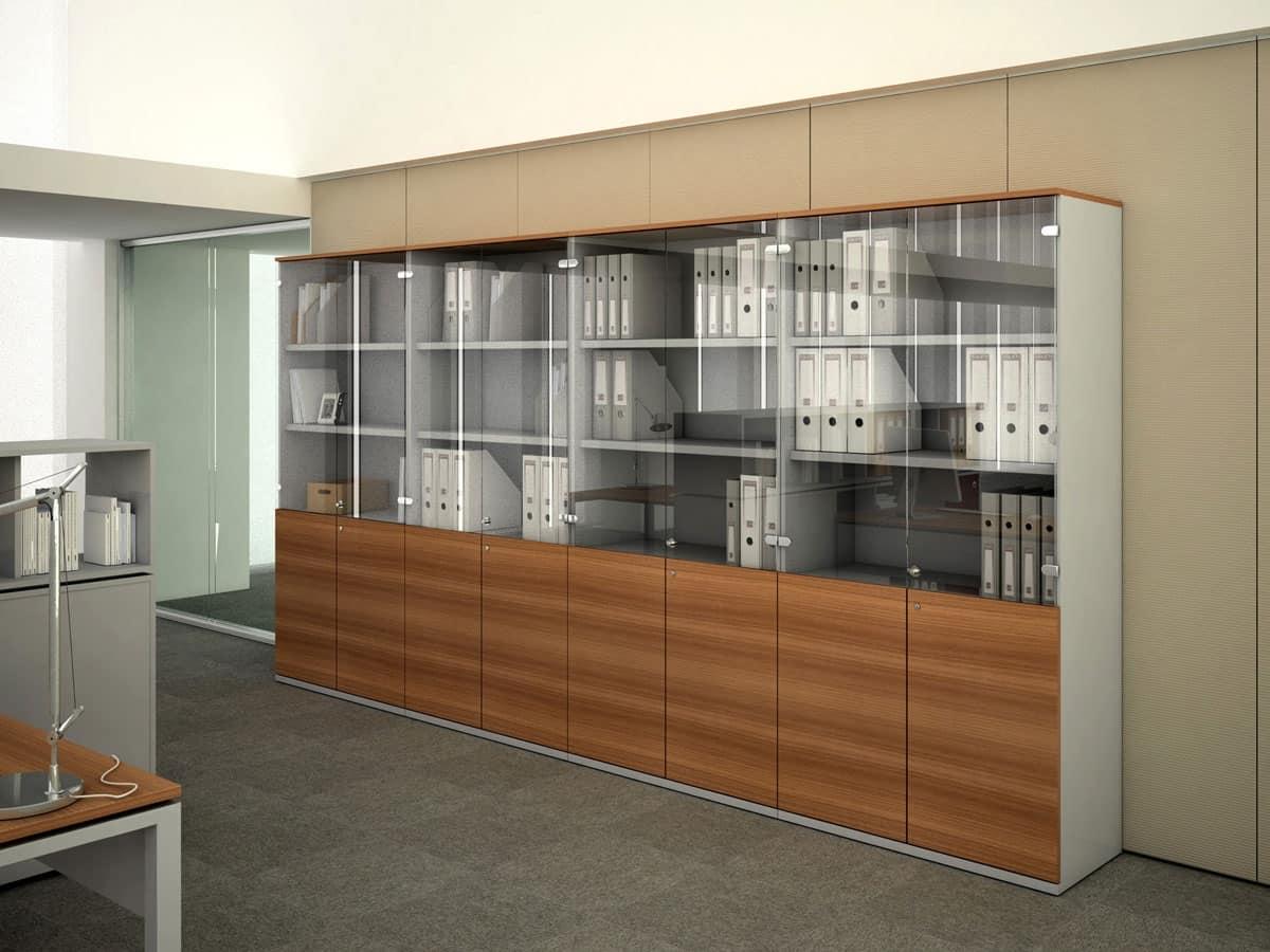 Mobili in legno per ufficio contenitori ufficio idfdesign for Mobili contenitori design