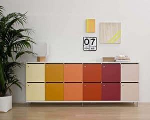 Lockers, Armadietti multicolore con chiusura a chiave, per uffici