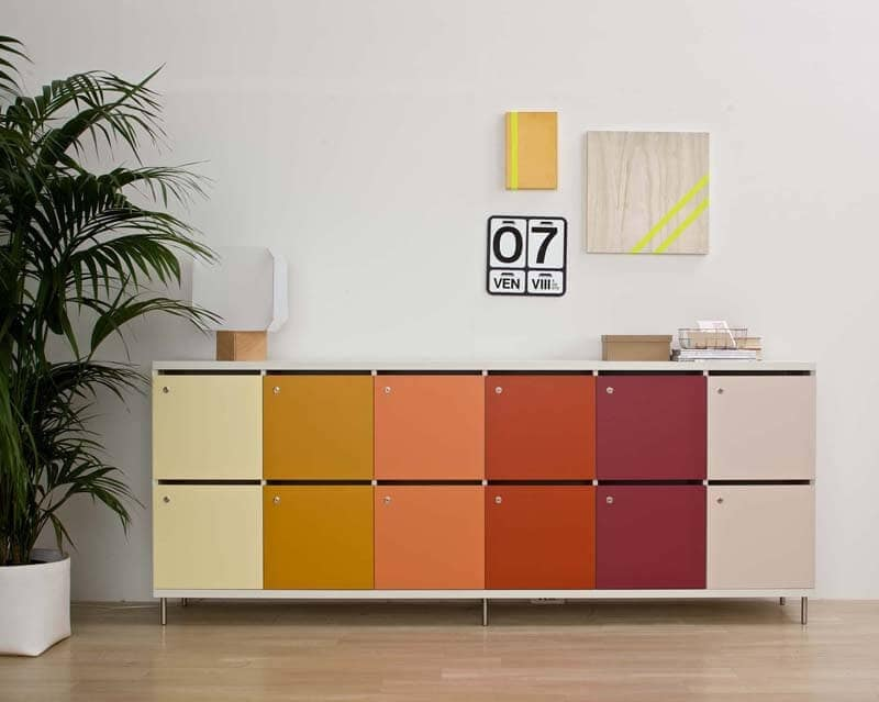 Cassettiera Con Chiave Per Ufficio.Armadietti Multicolore Con Chiusura A Chiave Per Uffici Idfdesign