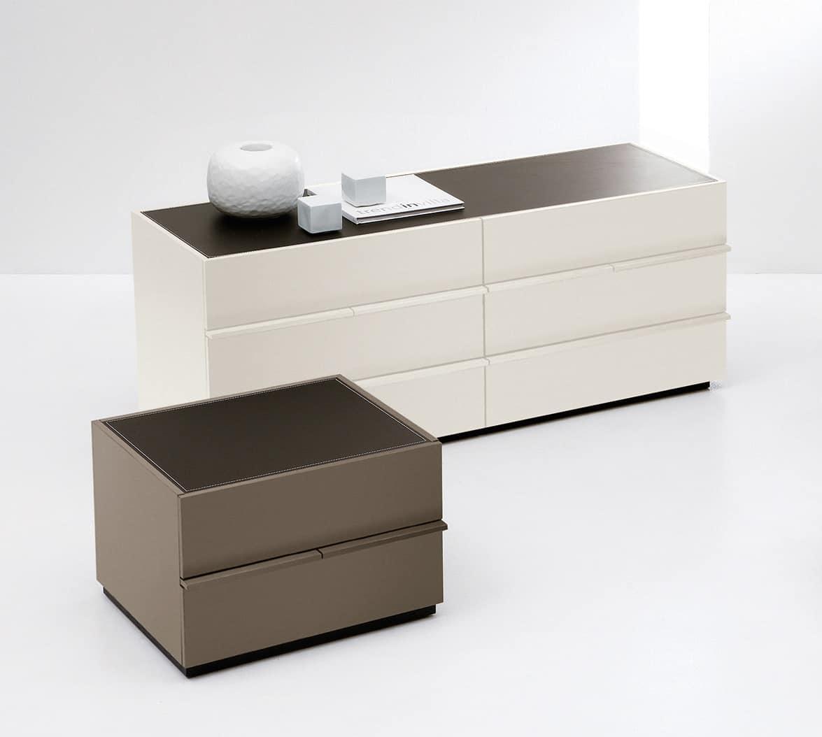 Com moderno in stile minimale per camera da letto idfdesign - Cassettiere camera da letto design ...