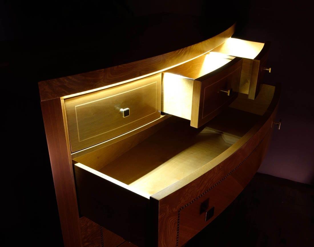 Illuminazione per cassetto a led porta tv paco mobile bianco per