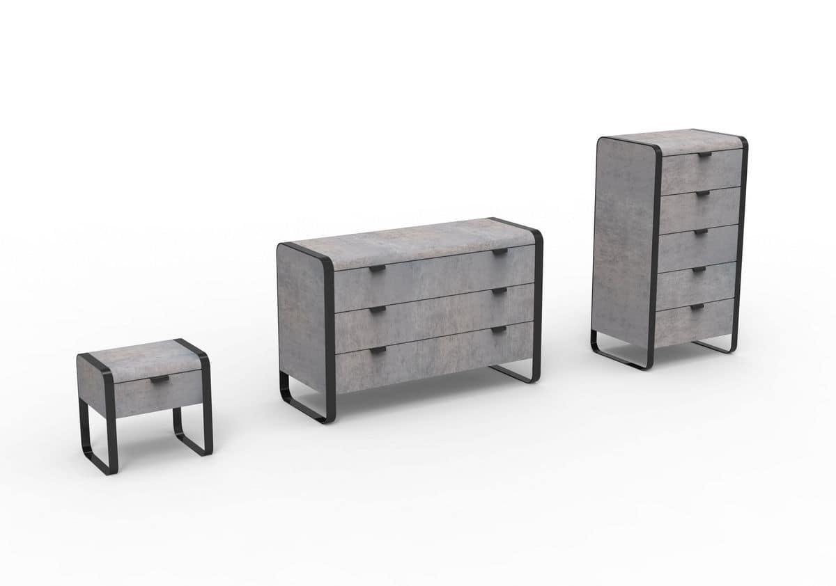 Elvis gruppo mobili moderni per camera da letto - Cassettiera camera da letto ...