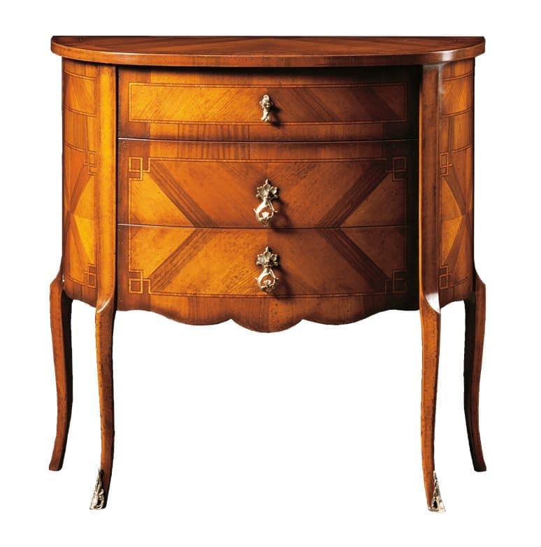 Emanuele FA.0060, Comoncino con tre cassetti, in stile classico di lusso.