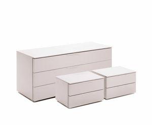 JOLLY cassettone, Cassettone bianco per camere da letto