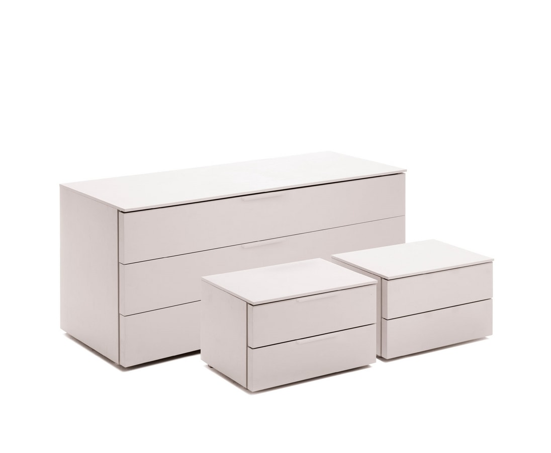 Cassettone bianco per camere da letto idfdesign - Cassettone letto ...