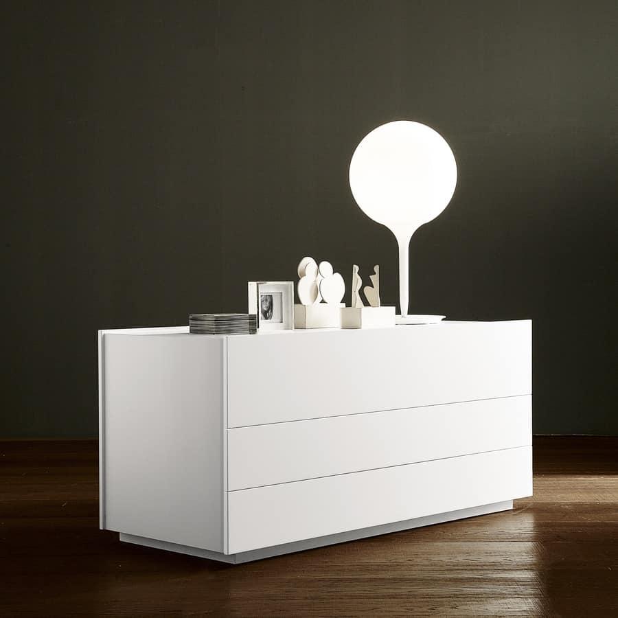 Com design dotato di 3 cassetti per camere da letto idfdesign - Cassettiere camera da letto design ...