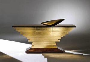 Milano MI193, Cassettiera rivestita in foglia oro