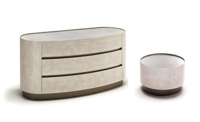 Comodino e com abbinati per camere da letto moderne - Cassettiere moderne design ...
