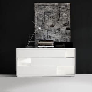 Moody com�, Com� design, con 3 cassetti, per camere da letto
